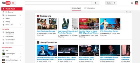 youtube new aligned look