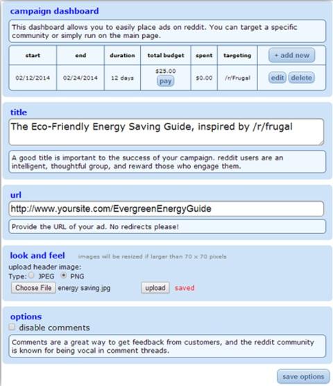 reddit ad options