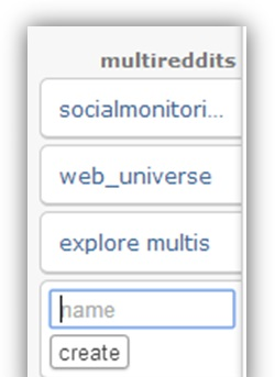 create a multireddit