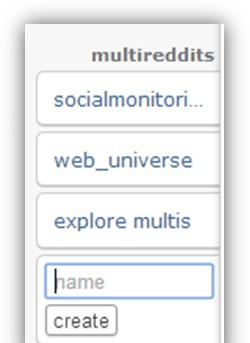 create a multireddit