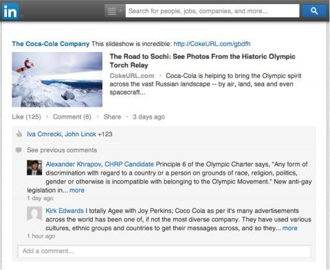 coca-cola olympic content
