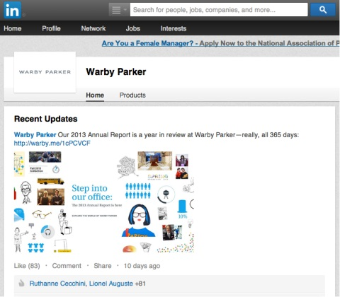 warby parker report