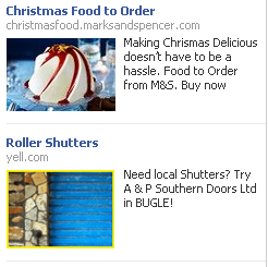 facebook sidebar ad