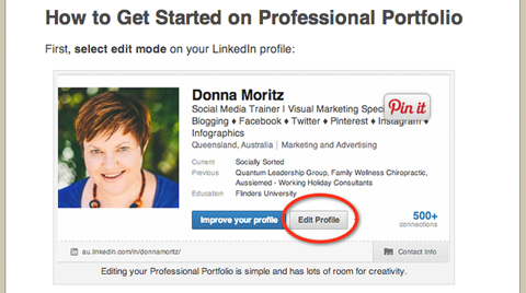 linkedin professional profile
