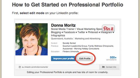 linkedin professional profile