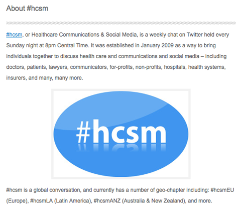 hcsm chat description