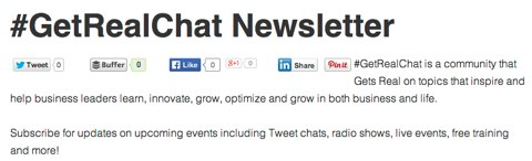 get real chat newsletter