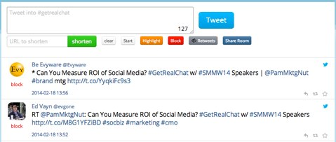 tweet chat hashtag