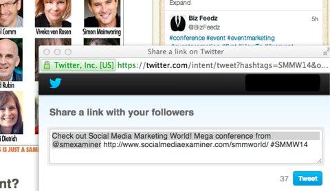 tweet smmw home page