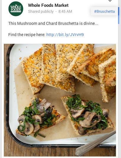 whole foods recipe