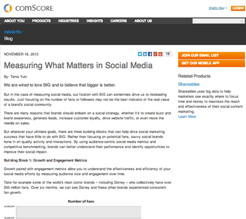 comscore article