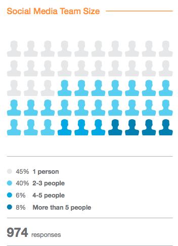 social media team size statistics