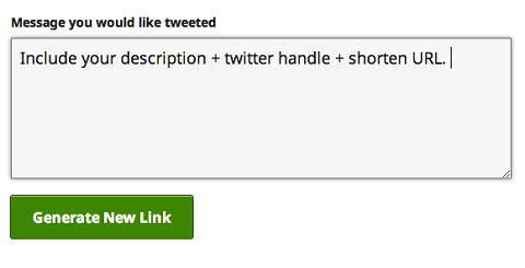 enter the tweet text