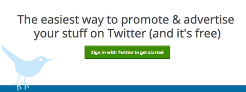 sign into clicktotweet.com with twitter id