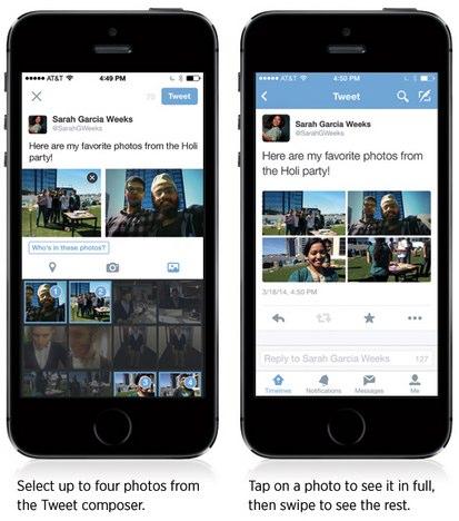 four photos in one tweet