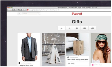 pinterest gifts feed