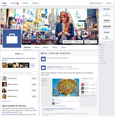 streamlined facebook for business