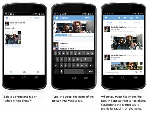 twitter mobile features