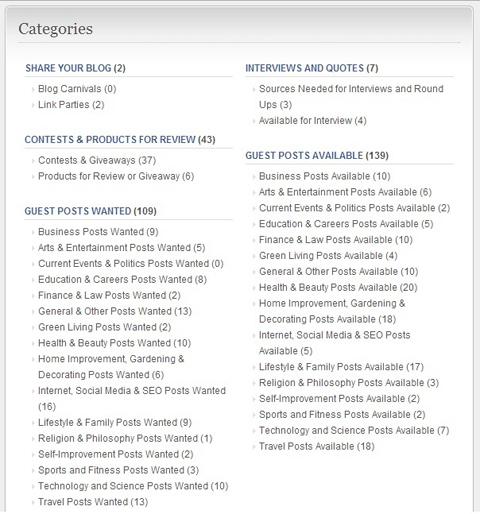 blogger linkup forums list