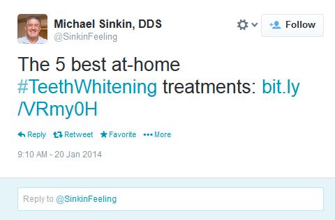michael sinkin dds tweet