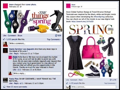 avon post on facebook