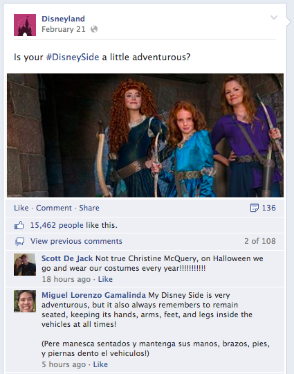 disney post on facebook