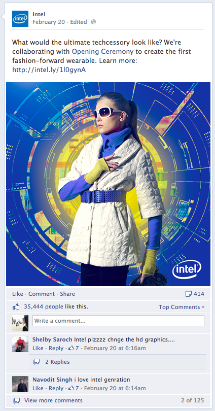 intel post on facebook