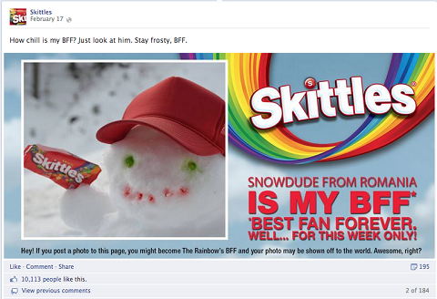 skittles bff post on facebook
