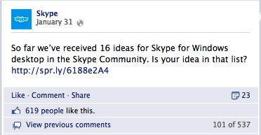 skype on facebook