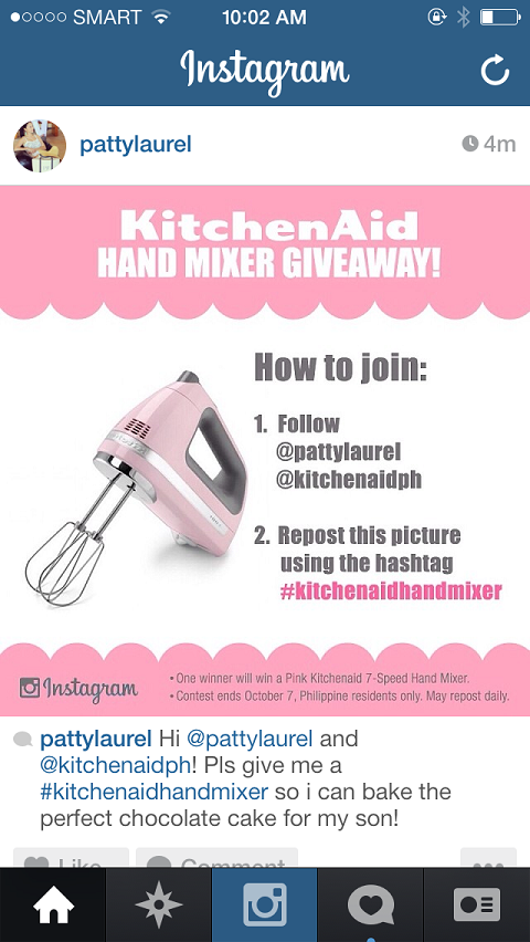 instagram kitchenaid hashtag example