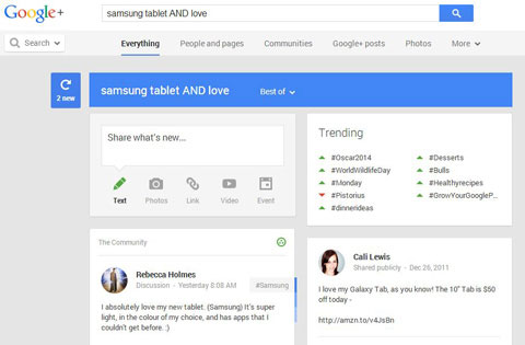 google plus boolean search