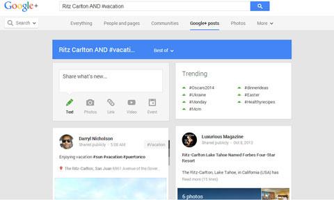 ritz google plus boolean search