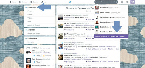 twitter boolean search results