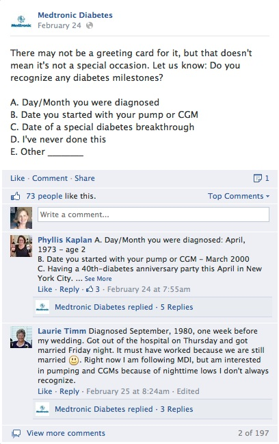 medtronic diabetes first facebook prompt update