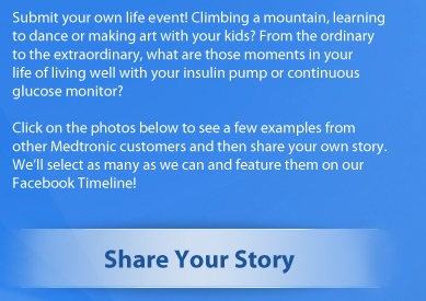 medtronic diabetes first facebook share your story prompt wording