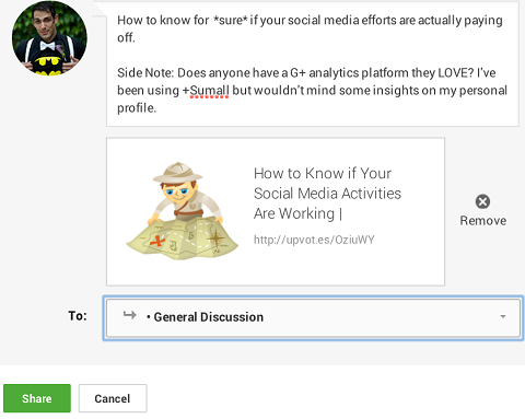 encourage discussion on google+