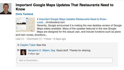 linkedin restaurant group update