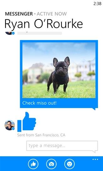 facebook messenger windows mobile