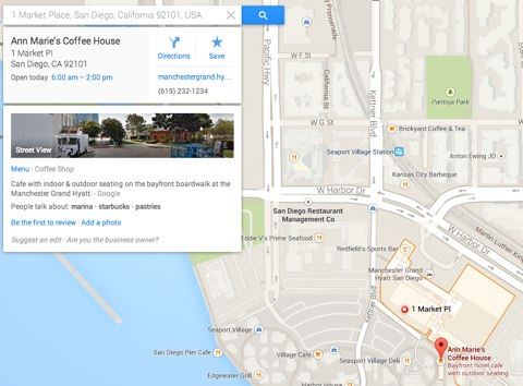 google maps business information