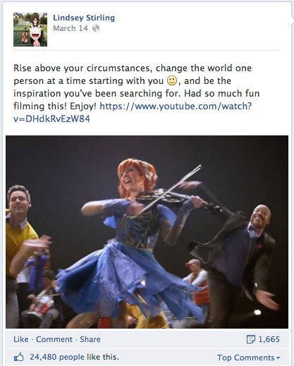 lindsey stirling facebook