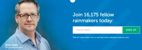 new rainmaker email sign up
