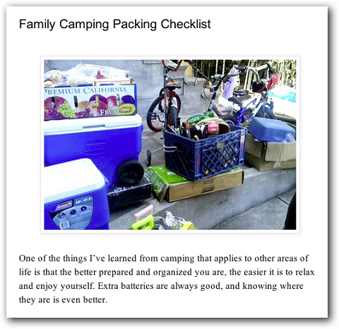 example of a checklist blog post