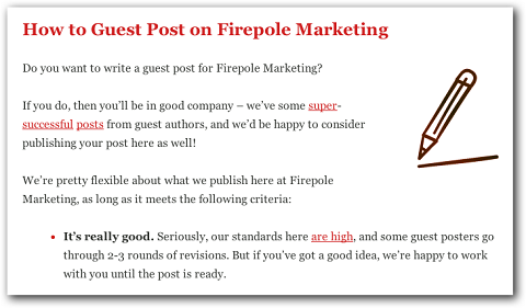 example of guest blogging guidelines