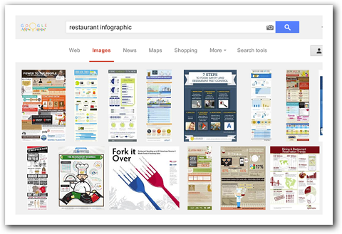 search results for restaurant infographic