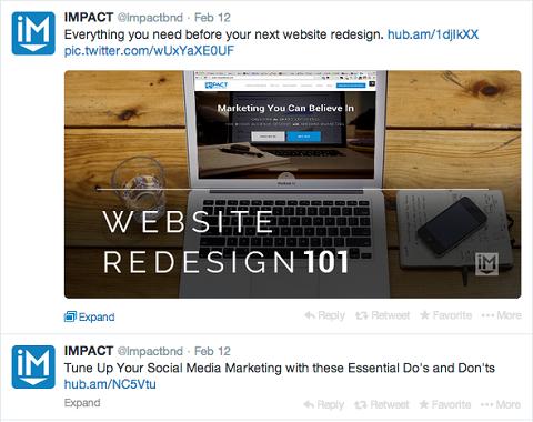 impact branding tweet
