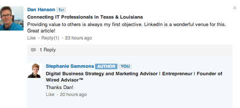 linkedin post comments