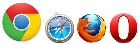 browser logo collage