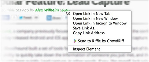 twitter profile lookup with riffle