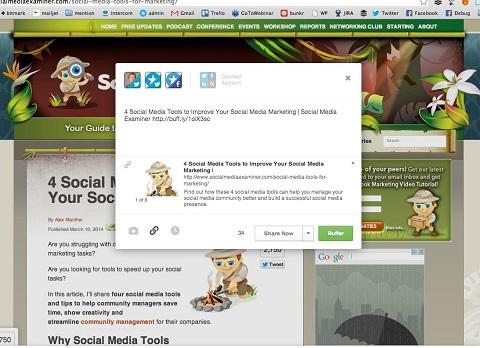 buffer social sharing box