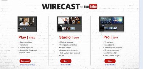 youtube wirecast